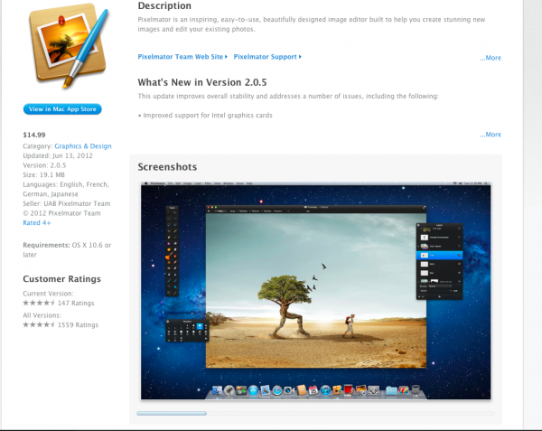 pixelmator 600x477 Pixelmator: Watermark Copyright Protection and Practically Free at $14.99