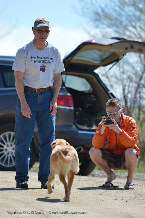 My buddy Bill Buckley and godson Colter on the receiving end of the dog fetching exercise. Montana