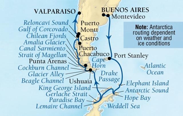 Seabourn Antarctica and Patagonia