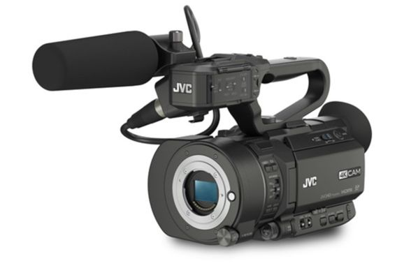 A photo of the new JVC 4K video camera that takes Micro Four Thirds lenses. Thanks to 43 Rumors for this info.