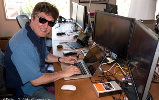 Captain Cool, Mylio software engineering guru JP Duplessis working his Mylio magic on his Mac keyboard. Mylio headquarters in Seattle, Washington.