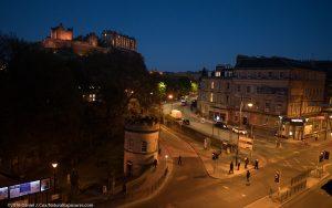 Edinburgh Castle on the ridge above the beautiful city of Edinburgh, Scotland