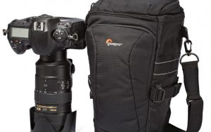 This Lowepro Toploader Pro 75 AW II should work really well for holding the new Leica 100-400mm zoom with a Lumix or Olympus body attached.