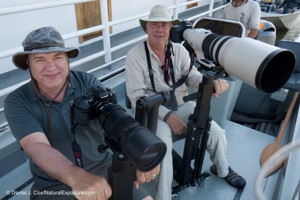 Freddy is just way to confident with his baby Lumix system and Peter's about ready to let him have a lens full. Oh, by the way, Freddy is shooting 840mm's and Peter has 600mm's.  gCuiaba River, Pantanal, Brazil.
